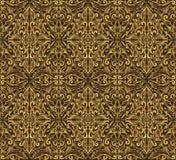 Bezszwowy brązu adamaszka wzór Obraz Stock