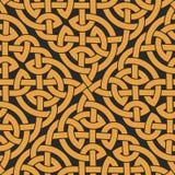 Bezszwowy Celtycki kępki nieskończoności wzór ilustracja wektor