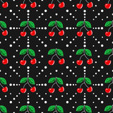 bezszwowy cherry wzoru Obrazy Royalty Free