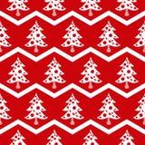 Bezszwowy choinki czerwieni wzór Zdjęcie Royalty Free