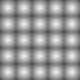 Bezszwowy circlular czarny i biały wzór Zdjęcie Royalty Free