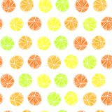 bezszwowy citrus wzoru royalty ilustracja