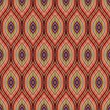 Bezszwowy cyma wzór Falisty geometryczny ornament Druk dla textil ilustracja wektor