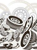bezszwowy część samochodowy wzór ilustracja wektor