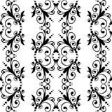 Bezszwowy czarny & biały wzór Obrazy Royalty Free