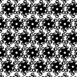 Bezszwowy czarny biel ornamentuje wektoru wzór Zdjęcia Stock