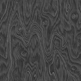 Bezszwowy czarny drewniany texure Obrazy Stock