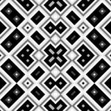 Bezszwowy czarny i biały geometryczny tło Obrazy Royalty Free