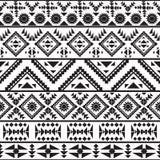 Bezszwowy czarny i biały navajo wzór Zdjęcia Royalty Free