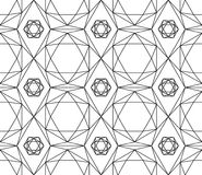 Bezszwowy czarny i biały wzór heksagonalni kryształy różni rozmiary Obraz Royalty Free