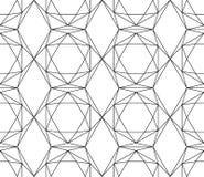 Bezszwowy czarny i biały wzór od heksagonalnych kryształów Fotografia Royalty Free
