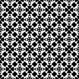 Bezszwowy czarny i biały geometryczny wzór Obrazy Royalty Free