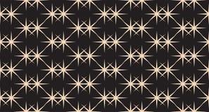 Bezszwowy Czarny I Biały gwiazda wzór Obrazy Royalty Free