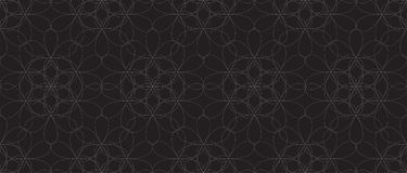 Bezszwowy czarny i biały wzór z abstrakcjonistycznymi kwiatami Obrazy Stock