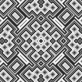 Bezszwowy czarny i biały geometryczny tło Obrazy Stock