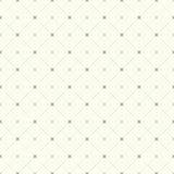 Bezszwowy czek kropkująca rocznik linia i krzyża deseniowy tło Zdjęcie Stock
