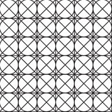 Bezszwowy czerń - biały geometryczny deseniowy kontur Obraz Royalty Free