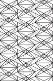 Bezszwowy czerń - biały geometryczny deseniowy kontur Fotografia Royalty Free