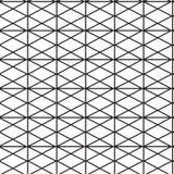 Bezszwowy czerń - biały geometryczny deseniowy kontur Zdjęcia Royalty Free
