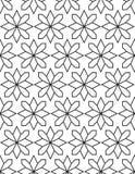 Bezszwowy czerń - biały geometryczny deseniowy kontur Fotografia Stock