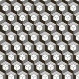 Bezszwowy czerń - biały geometryczny wzór Zdjęcie Stock