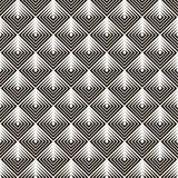 Bezszwowy czerń - biały geometryczny wzór Zdjęcie Royalty Free