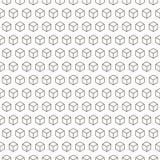 Bezszwowy czerń - biały geometryczny wzór Zdjęcia Royalty Free
