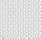 Bezszwowy czerń - biały geometryczny wzór Obraz Royalty Free