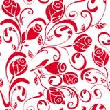 Bezszwowy Czerwonych róż tło Zdjęcia Royalty Free