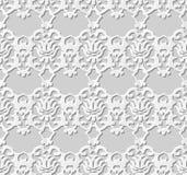 Bezszwowy 3D białego papieru sztuki tła 376 rocznika rżnięty kalejdoskop Zdjęcie Stock