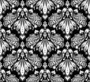bezszwowy dekoracyjny kwiecisty ornament ilustracja wektor