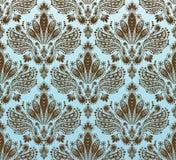 bezszwowy dekoracyjny kwiecisty ornament Zdjęcia Royalty Free