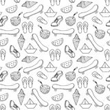 Bezszwowy dekoracyjny lato wzór dla dekoraci tkaniny i projekta royalty ilustracja