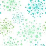 Bezszwowy dekoracyjny wzór z kwiatami Zdjęcie Royalty Free