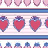 Bezszwowy deseniowy Święty meksykański spirytusowy kolor Dusza symbolu religia Dekoracja emblemata święty serce Sakramentalna rel ilustracji