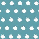 Bezszwowy deseniowy biel apple-2 Obraz Stock