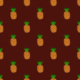 Bezszwowy deseniowy Burgundy tła ananas Obraz Royalty Free