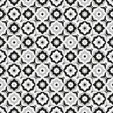 Bezszwowy deseniowy ceramiczny czarny i biały dachówkowy projekt Obrazy Royalty Free