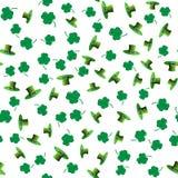 Bezszwowy deseniowy dzień Patrick ilustracja wektor