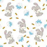 Bezszwowy deseniowy dziecko królik Zdjęcie Royalty Free