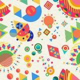 Bezszwowy deseniowy geometrii tło kolorowy royalty ilustracja
