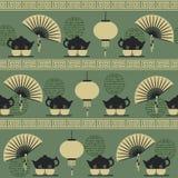 Bezszwowy deseniowy herbaciany czas Obrazy Stock