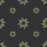 Bezszwowy deseniowy kolorowy pierścionku łańcuch Zdjęcie Royalty Free