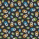 Bezszwowy deseniowy kolorowy pierścionku łańcuch Fotografia Stock