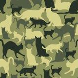 Bezszwowy deseniowy kota kamuflaż Obraz Royalty Free