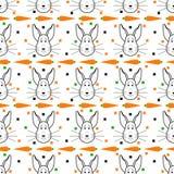 bezszwowy deseniowy królik Obrazy Stock