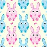 bezszwowy deseniowy królik Royalty Ilustracja