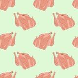 Bezszwowy deseniowy kurczak Obrazy Stock