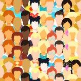 Bezszwowy deseniowy mężczyzna, kobieta, dziewczyna, atleta, nauczyciel, afrykanin, yo Zdjęcie Royalty Free