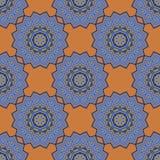Bezszwowy deseniowy mandala Fotografia Royalty Free